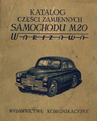 Katalog części zamiennych samochodu FSO WARSZAWA M20