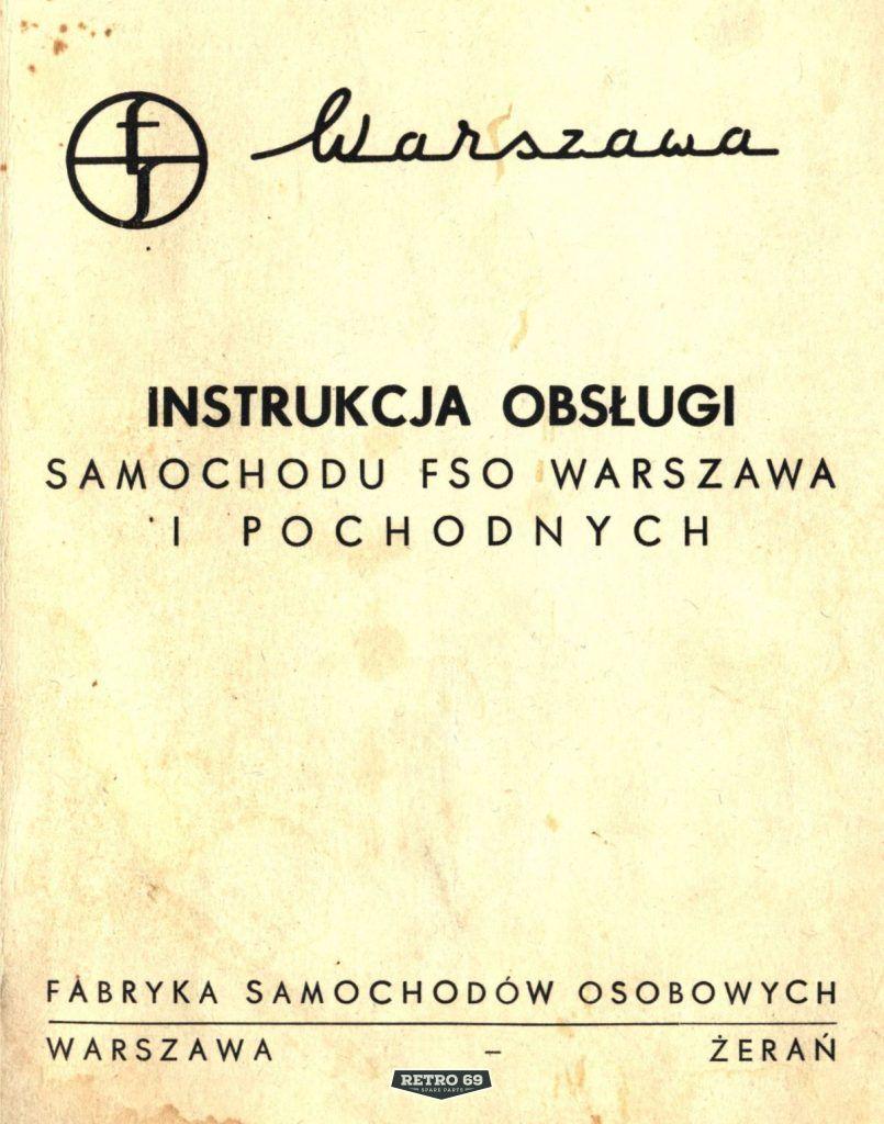 Instrukcja obsługi samochodu FSO WARSZAWA i pochodnych