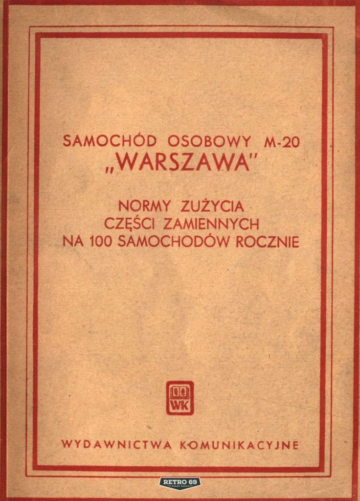 Okładka Samochód osobowy FSO WARSZAWA M20