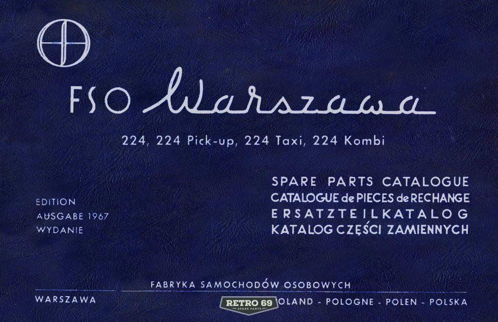 Okładka Katalog części zamiennych FSO WARSZAWA 224