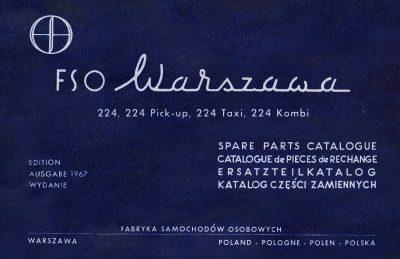 Katalog części zamiennych FSO WARSZAWA 224