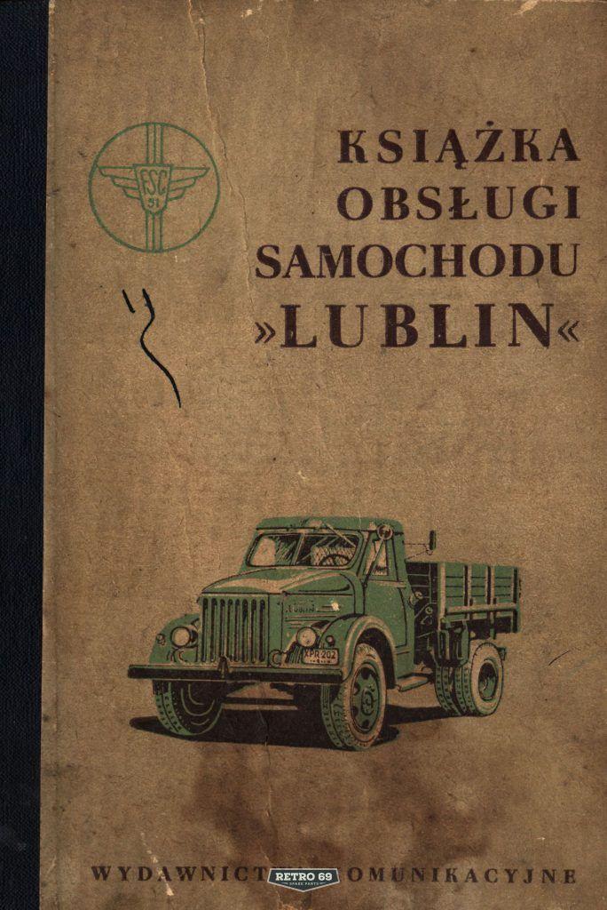 Okładka Książka obsługi samochodu GAZ 51 / LUBLIN 51