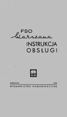 Instrukcja obsługi FSO WARSZAWA M20