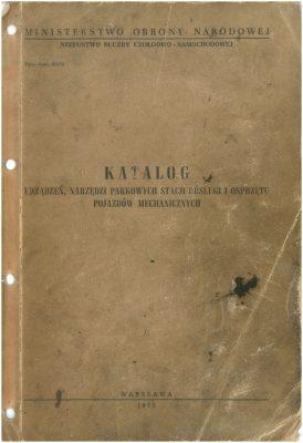 Katalog urządzeń, narzedzi parkowych stacji obsługi i osprzętu pojazdów mechanicznych